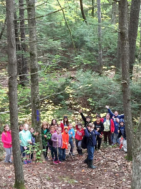 Eddy School Kids on the Haggett Loop Trail-Schmid Preserve-L McSwain